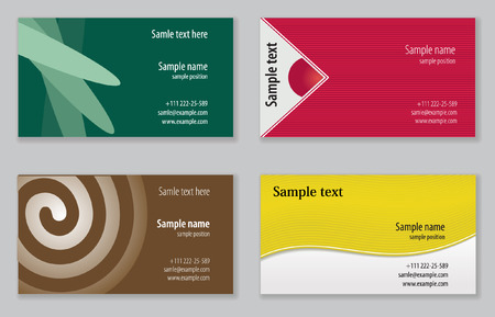 Business cards templates Stock Vector - 5466691