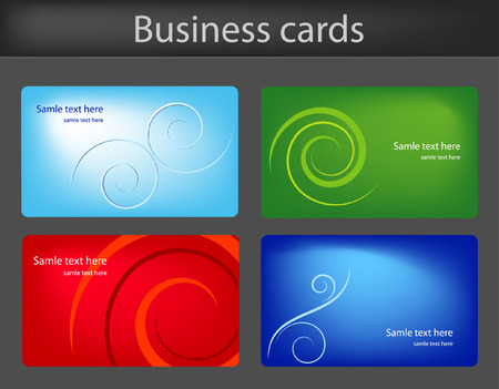 Business cards templates Stock Vector - 5466693