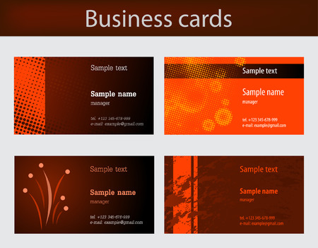 Business cards templates Stock Vector - 5470914