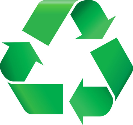 recycle: Green Recycling-Symbol Illustration