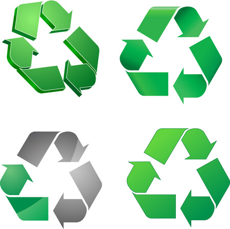 Green recycle symbol collection Ilustração