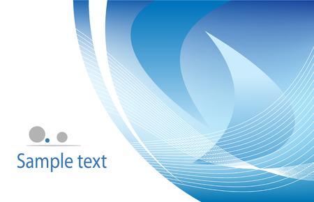 digital wave: Vector azul plantilla Vectores