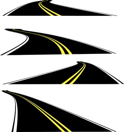 Vector perspective roads Vector