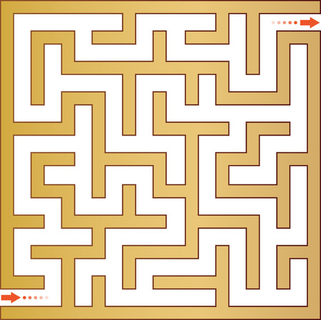 deadlock: Gold maze. Vector illustration.