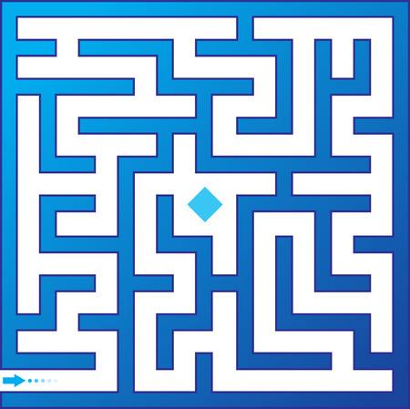 deadlock: Blue maze. Vector illustration.