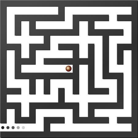 Gray maze. Vector illustration. Stock Vector - 5786160