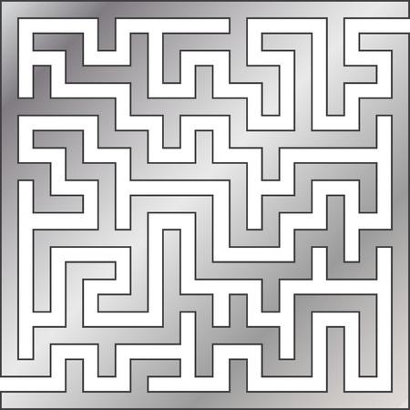 Silver maze. Vector illustration. Vector