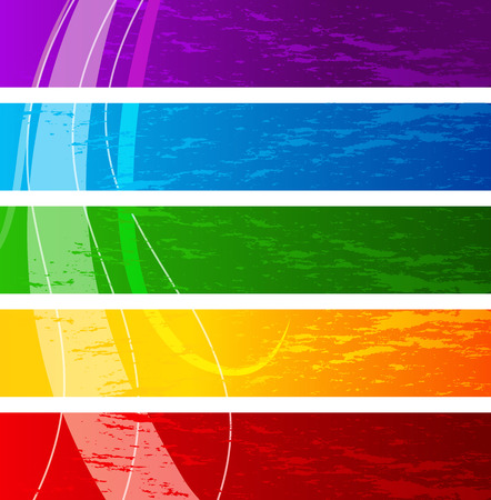 wawe: Set of retro colorful banners