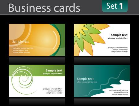 Set of business cards templates. Vector illusrtation. Stock Vector - 5855395