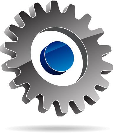 Símbolo de engranajes. Ilustración del vector. Foto de archivo - 5855389