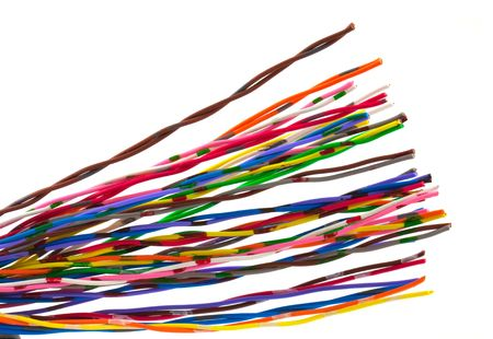 Color wires isolated on white background. Stock Photo - 5892918