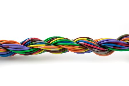 Twisted cables islated on white background Stock Photo - 5892928