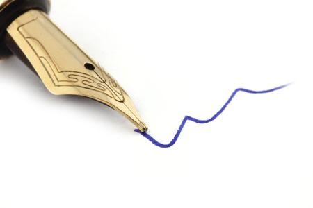 writing utensil: Fountain-pen isolated on white background.