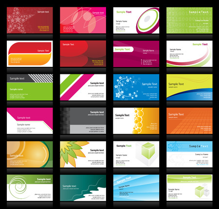 Set of business cards Stock Vector - 6041324