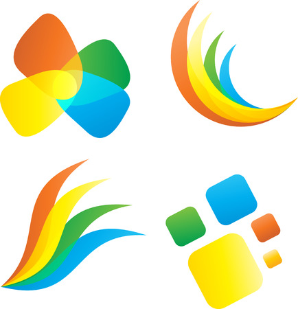 Set of fourabstract icons. Vector