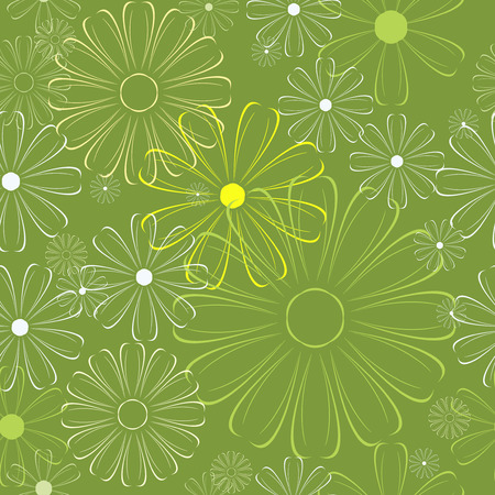 flower background. Can be tiled. Stock Vector - 6285190