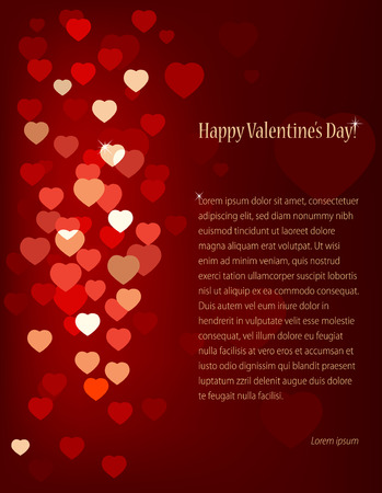 znaczna: valentines background with hearts and place for text.