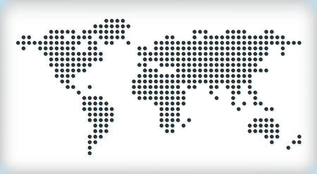 Dotted map Vector