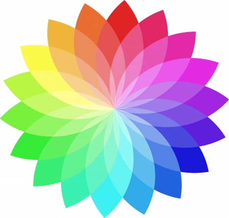 descriptive colour: Vector color wheel.