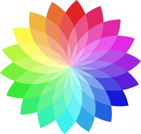 Vector kleurenwiel.