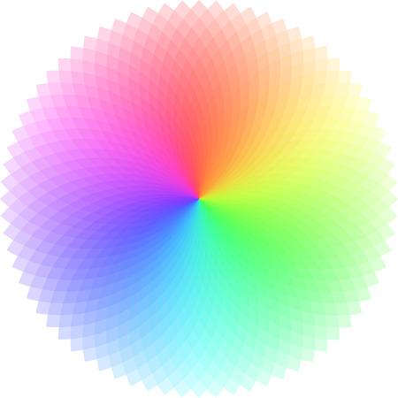 Vector kleurenwiel. Vector Illustratie