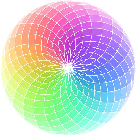 Vector kleuren wiel.  Vector Illustratie