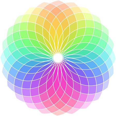 Vector color wheel. Vector