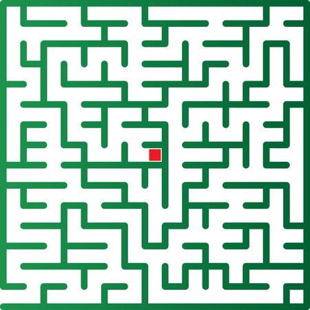 Color maze. Vector illustration. Vector
