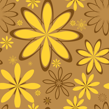 Vector flower background. Can be tiled. Stock Vector - 6372335