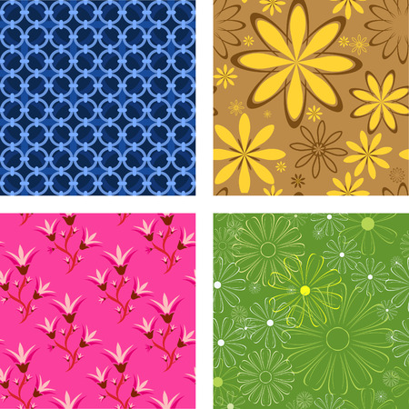 Vector flower background. Can be tiled. Vector