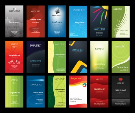 Set of verical business cards  Vector