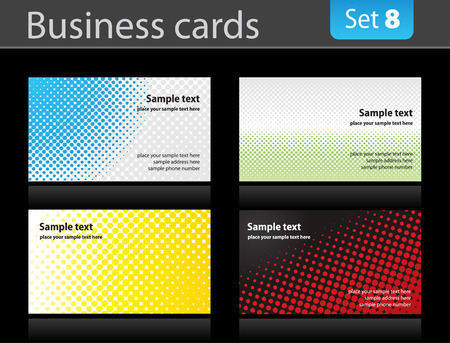 Set of business cards. Stock Vector - 6562109