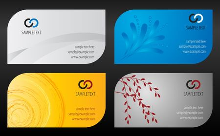 Business cards template photo