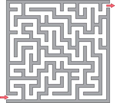 maze game: Vector illustration of gray maze