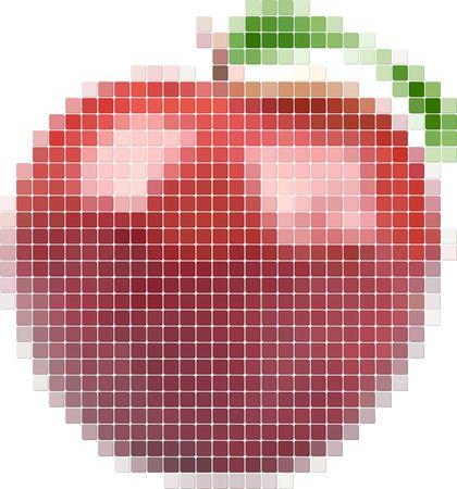 Illustration of tiled red apple Vector