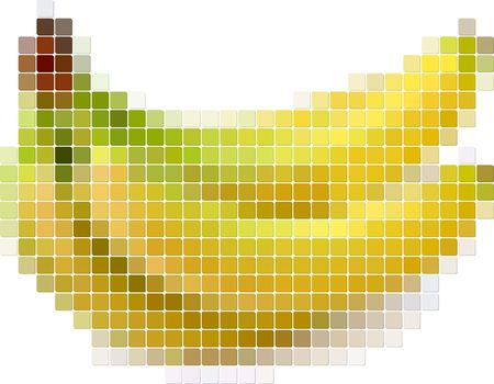 Illustration of tiled banana Vector