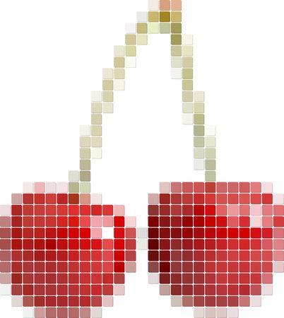 Illustration of tiled cherry Vector