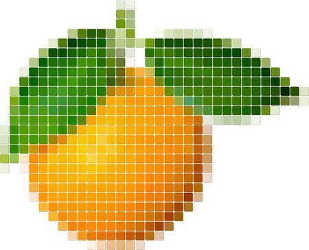 Illustration of tiled orange Vector