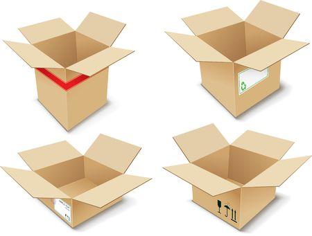 relocating: Cardboard Box. illustration. Illustration