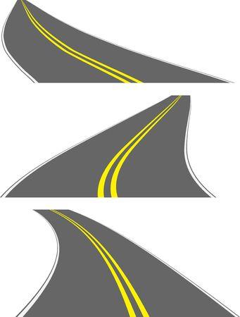 perspective roads Stock Vector - 6859197