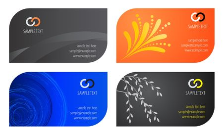 Business cards template. Vector