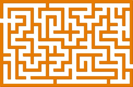 brain mysteries: Orange  labyrinth Illustration