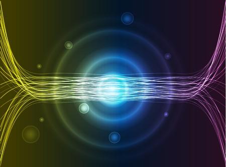 fibra de vidrio: Fibra de vidrio colorida sobre fondo negro  Foto de archivo