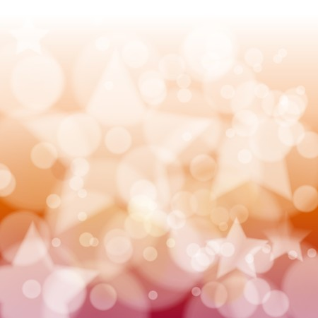 Red bokeh abstract light background with stars. illustration Stock Illustration - 7305051
