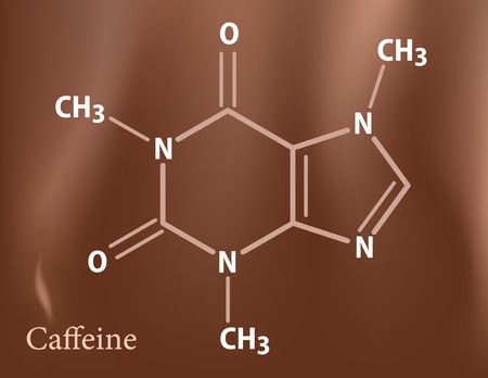 Caffeine formula Vector