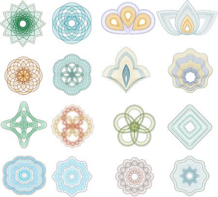 guilloche pattern: conjunto de l�neas entrecruzadas roseta