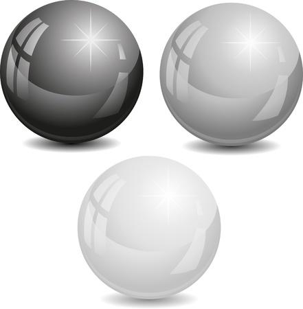 spherule: Vector illustration of pearls.