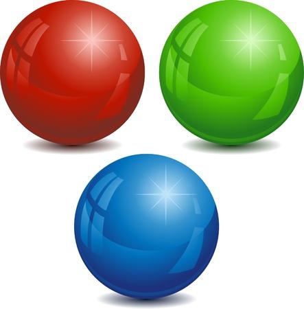 spherule: Vector illustration of RGB spheres. Illustration