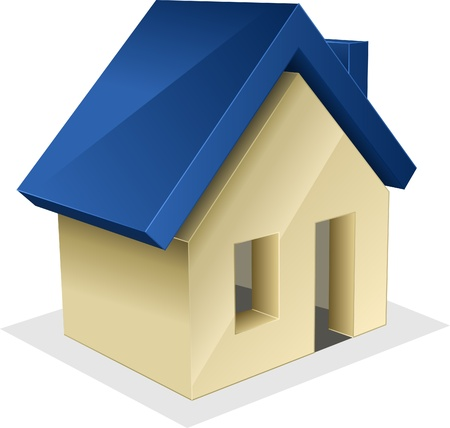 Vector icon of house. Stock Vector - 8339245