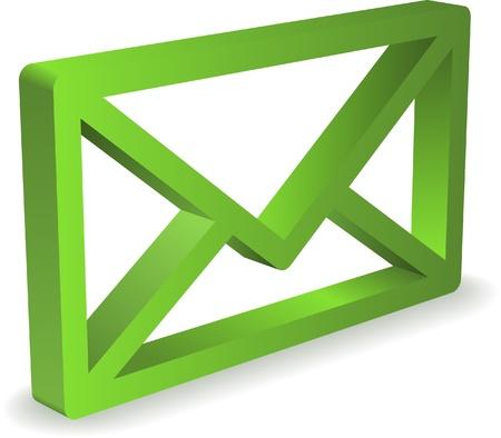 envelop: Green envelop icon